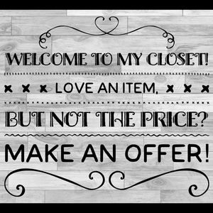 Welcome make an offer! 😊💕